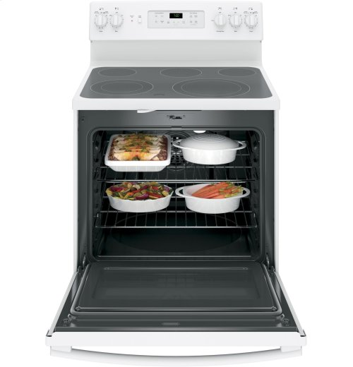 """RED HOT BUY- BE HAPPY! GE® 30"""" Free-Standing Electric Convection Range"""