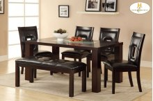 Dining Table, Crackle Glass Insert