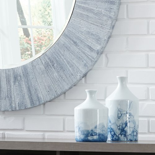 Blue and White Porcelain Bottle Vase, Small