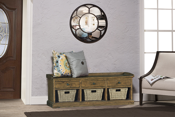 Tuscan Retreat® Bench With 3 Drawers   Old World Pine