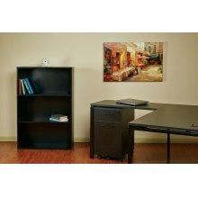 "Prado 48"" 3-shelf Bookcase With 3/4"" Shelves and 2 Adjustable Shelves In White."