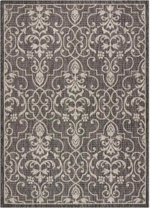 Country Side Ctr04 Charcoal Rectangle Rug 5'3'' X 7'3''