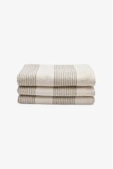 Tasha Bath Towel Cream with Linen Stripes STYLE: THBT01