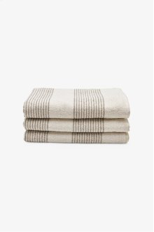 Tasha Bath Towel Cream with Linen Stripes STYLE: THBT01