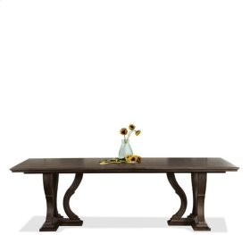 Verona Trestle Dining Table Dark Sienna finish