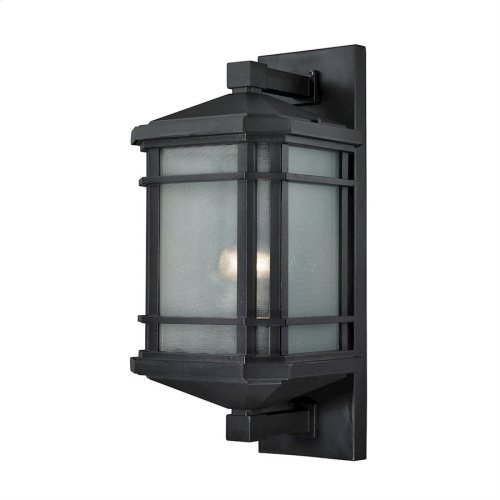 Lowell 1-Light Outdoor Wall Lamp in Matte Black