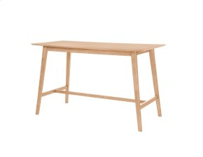 """Emerald Home Simplicity Rectangular Gathering Table 60x28x36"""" Natural D546-14"""
