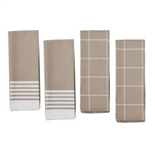ZWILLING Accessories 4-pc Kitchen Towel Set, Taupe