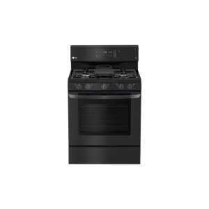 5.4 cu. ft. Gas Single Oven Range with EvenJet Fan Convection and EasyClean® - MATTE BLACK STAINLESS STEEL