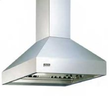 "Cobalt Blue 36""H.Chimney Island Hood Duct Cover (10' Ceilings)"