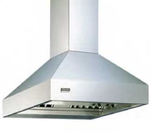"Graphite Gray 12""H. Chimney Island Hood Duct Cover (8' Ceilings)"