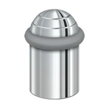 """Round universal Floor Bumper Dome Cap 2"""", Solid Brass - Polished Chrome"""