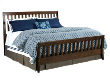 Slat King Bed Molasses - Complete