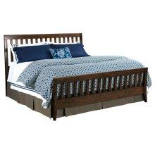 Slat King Bed Molasses - Complete