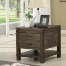 Promenade - Rectangular Side Table - Warm Cocoa Finish Product Image