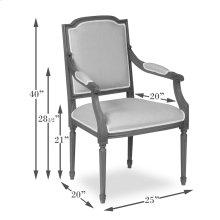 Louis Xvi Squared Arm Chair Frame