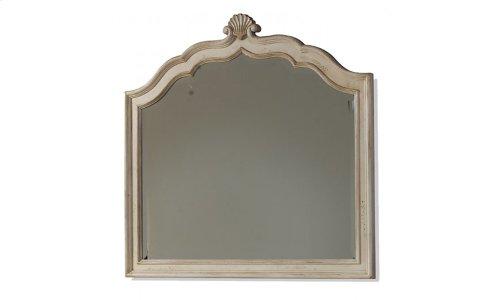 Provenance Crowned Landscape Mirror - Linen