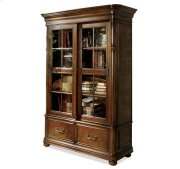 Bristol Court Sliding Door Bookcase Cognac Cherry finish Product Image
