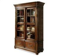 Bristol Court Sliding Door Bookcase Cognac Cherry finish Product Image