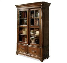Bristol Court Sliding Door Bookcase Cognac Cherry finish