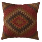Red Multi Color Kilim Pillow. Product Image