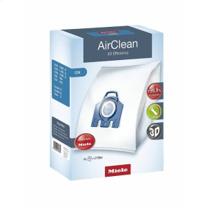 GN AirClean 3D AirClean 3D Efficiency GN dustbags ensures that dust picked up stays inside the machine. -