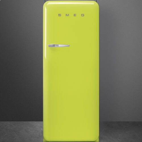 50'S Style Refrigerator with ice compartment, Lime green, Right hand hinge