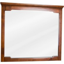 "40"" x 34"" Beveled glass mirror with Chocolate Brown finish."