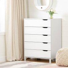 5-Drawer Chest Storage Unit - Pure White