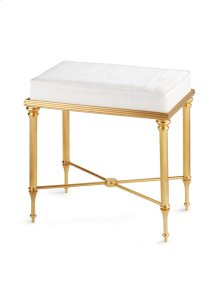 Antique Gold Reeded Bench