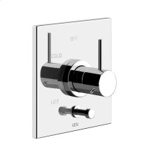"""TRIM PARTS ONLY External parts for pressure balance with 2-way diverter Single backplate 1/2"""" connections Requires in-wall rough valve 09274"""