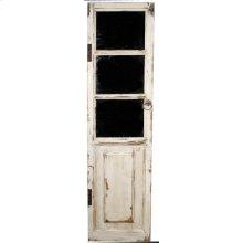 Tuscany Door Mirror w/ Large Windows, Ant. White