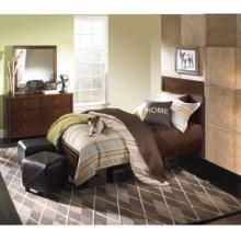 New Albany 3-Pc. Full Bedroom Set - Full Panel Bed, 6-Drawer Dresser, Mirror