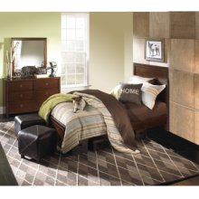 New Albany 3-Pc. Full Bedroom Set - Full Panel Bed, 6-Drawer Dresser, Mirror