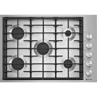 "30"", 5-Burner Gas Cooktop, Stainless Steel"