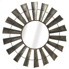 Galvanized Windmill Wall Mirror. Product Image
