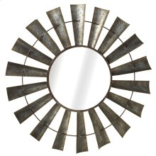 Galvanized Windmill Wall Mirror.