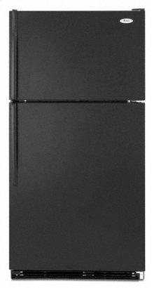 Black-on-Black 21.0 cu. ft. Top Mount Refrigerator
