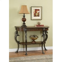 Masterpiece Floral Demilune Console Table