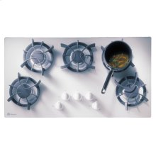 "GE Monogram® 36"" White Updraft Gas Cooktop with 5 Burners"