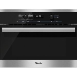 MieleH 6200 BM AM 24 Inch Speed Oven With electronic clock/timer and combination modes for quick, perfect results.