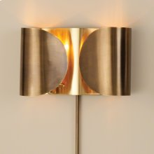 Folded Sconce-Antique Brass/Brass