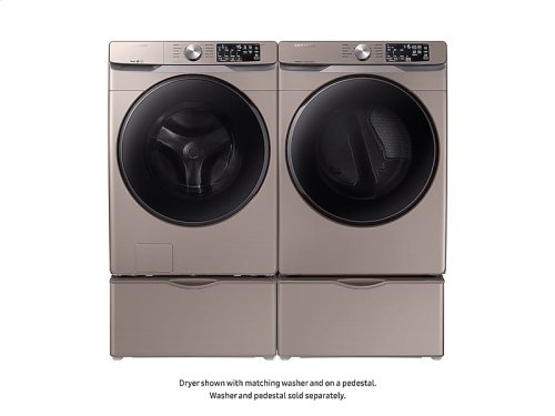 DV6100 7.5 cu. ft. Gas Dryer with Steam Sanitize+ in Champagne