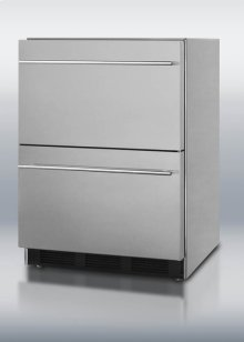 ADA compliant built-in two-drawer all-refrigerator in full stainless steel