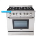 36 Inch Professional Dual Fuel Range In Stainless Steel Product Image