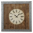 Galvanized Frame Wall Clock. Product Image