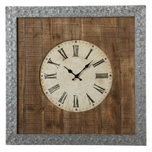 Galvanized Frame Wall Clock