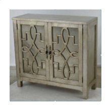 2 Door Cabinet In Silver Leaf