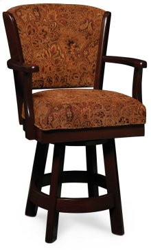 "Venture Swivel Barstool, Arm, 24"" Seat Height"