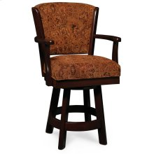 "Venture Swivel Barstool, Arm, 24"" Seat Height"